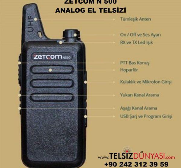 ZETCOM N 500 ANALOG EL TELSİZİ