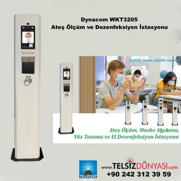 Dynacom WKT3205 Ateş Ölçüm ve Dezenfeksiyon İstasyonu