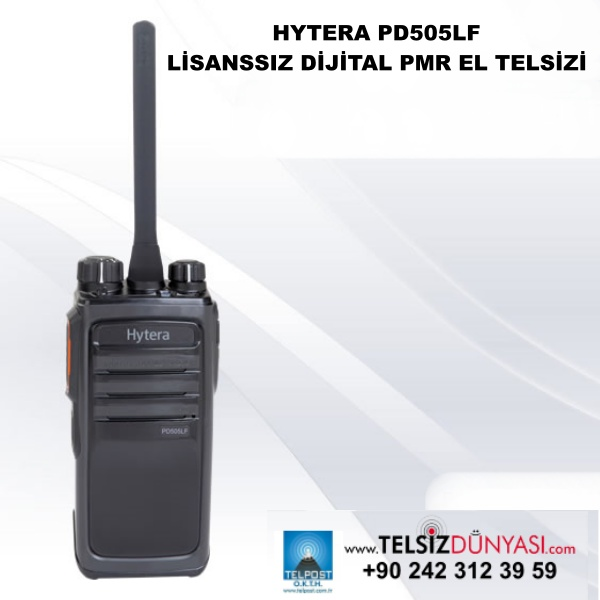 HYTERA PD505LF LİSANSSIZ DİJİTAL PMR EL TELSİZİ