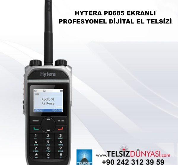 HYTERA PD685 EKRANLI PROFESYONEL DİJİTAL EL TELSİZİ