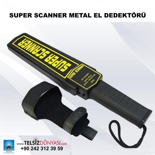 SUPER SCANNER METAL EL DEDEKTÖRÜ